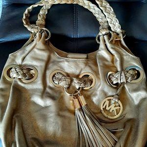 Michael Kors Metallic Gold Leather Hobo Style